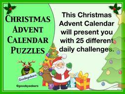 Christmas Advent Calendar Daily Puzzles