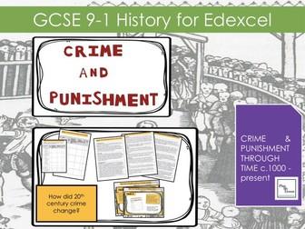 Edexcel GCSE History 9-1 Crime Punishment: Lesson 25 How did 20th century crime change?
