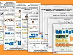 Year 4 1,000s, 100s, 10s, 1s Autumn Block 1 Step 5 Maths Lesson Pack