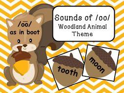 Sounds of /oo/ - Woodland Animal Theme
