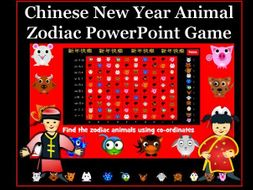 Chinese Animal Zodiac Coordinates PowerPoint Game