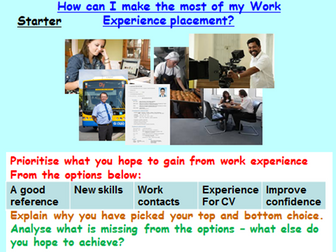 Careers & Employment: Work Experience