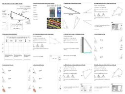 Sin Cos Tan / SOH CAH TOA / Trigonometric Ratios - Guided worksheets ...