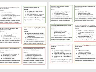 GCSE Spanish: Writing Practice & Revision