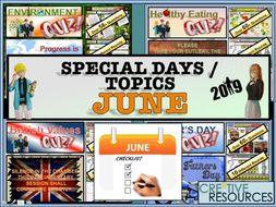 Tutor time activities - June