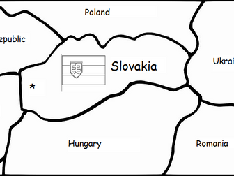 SLOVAKIA printable handout with map and flag