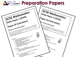GCSE Paper 2 Preparation Papers by DeltaTrustMaths