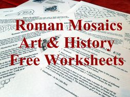 Roman Mosaics 7 - 11 years Worksheets (14 to download)