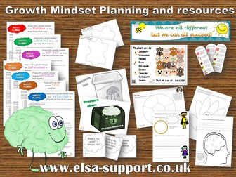 Growth Mindset Planning and Resources