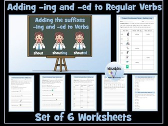 Verbs:  Adding -ing and -ed To  Verbs