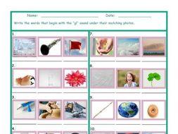 Phonics Consonant Blend GL Photo Worksheet
