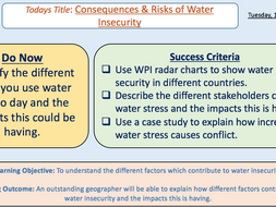 Consequences and Risks of Water Insecurity