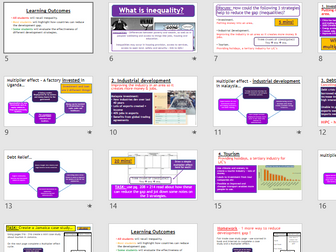 AQA GCSE CHANGING ECONOMIC WORLD: L6 - Reducing the Development Gap (Lessons + Resources).
