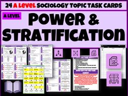 Power and Stratification Sociology Task Cards