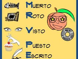 Spanish Poster to learn Irregular Participles *Póster en Español * FREE * GRATIS