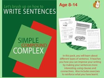 Brush Up On Writing Sentences (Improve Your English Work Pack) 9-14 years