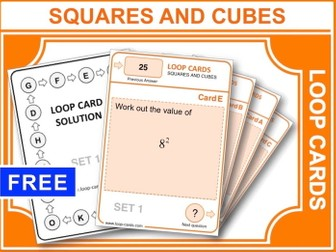Squares and Cubes (Loop Cards)