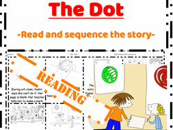 The Dot Peter H. Reynolds Reading - Read & Sequence cut and paste