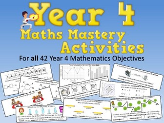 Year 4 Maths Mastery Activities