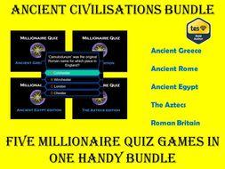 Ancient Civilisations Millionaire Quiz Bundle