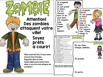 French Halloween Zombie Lesson