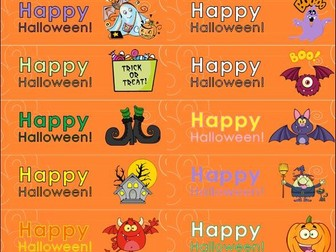 Halloween Labels for Decoration or Card Making