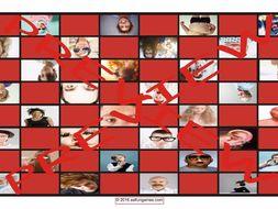 People Descriptions Checker Board Game