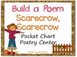 Build a Poem: Scarecrow, Scarecrow - Pocket Chart Center