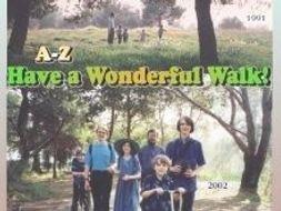 """Have a Wonderful Walk!"" Cursive Penmanship A-Z"