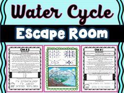 Water Cycle ESCAPE ROOM! - Earth Science - NO PREP, PRINT & GO!