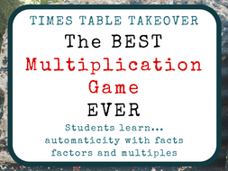 Times Table Takeover: The Best Multiplication Game Ever!