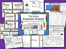 The Great Fractions Frenzy Activities Pack