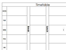 Time Table Template