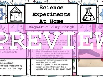 Science Home Experiment - Magnetic Play Dough