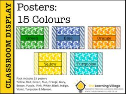 Posters Colour Splashes!