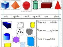 3d shapes differentiated worksheets year 1 white rose by gibbonsjack teaching resources. Black Bedroom Furniture Sets. Home Design Ideas