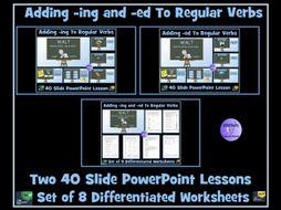 Verbs: Adding -ing and -ed To Regular Verbs Bundle