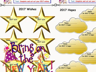 NEW YEAR Wishes and Hopes stars