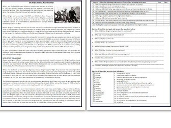 The Wright Brothers & The Aerial Age - Reading Comprehension - Informational Text