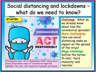 Social Distancing + Lockdown - Covid
