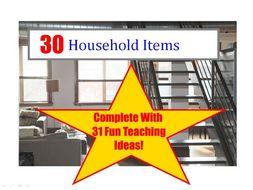30 photos of household items powerpoint presentation 31 fun teaching