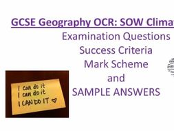 GCSE Geography OCR Climate Change