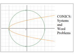 Conics Word Problems and Systems of Equations