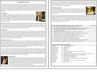 The Strange History of Perfume - Reading Comprehension Worksheet / Text