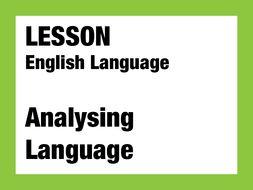 English Lesson - Analysing Language 1