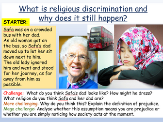 Religious Prejudice / Islamophobia