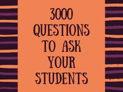 Speaking | 3000 Questions to ask your students (vol. 3)