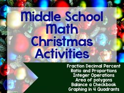 Christmas Math Activities For Middle School By Randistowe Teaching Resources Tes