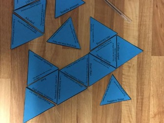 GCSE PE New OCR spec, Health, Fitness & Well-being (2.3) Tarsia Triangle Puzzle