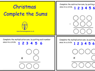 Christmas Complete The Sum (SmartBoard version)